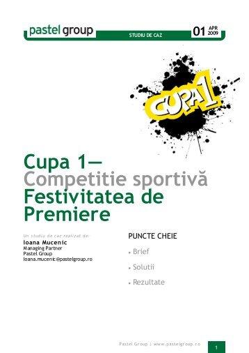 Cupa 1— Competitie sportivă Festivitatea de Premiere - AdPlayers.ro