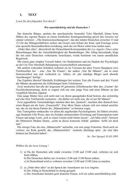 banque d'epreuves - epreuve d'allemand - Concours ENSEA