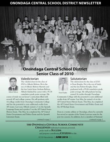 Onondaga Central School District Senior Class of 2010