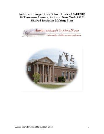Auburn Enlarged City School District (AECSD) 78 Thornton Avenue ...