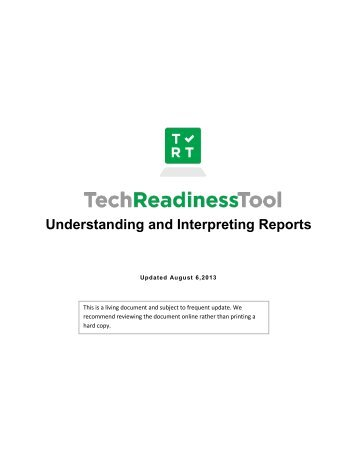 Understanding and Interpreting Reports - Tech Readiness