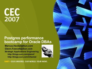 Postgres performance bootcamp for Oracle DBAs