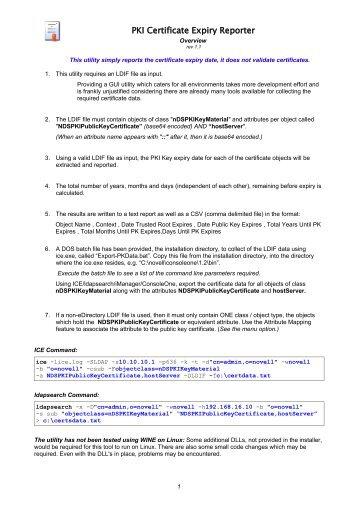 PKI Certificate Expiry Reporter
