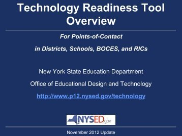 Technology Readiness Tool (TRT) - p-12 - New York State ...