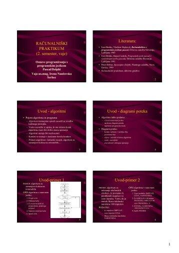 Folije seminarskih vaj za 2. semester - Hrast