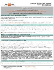 Formulaire de demande développement - TV et MN financée