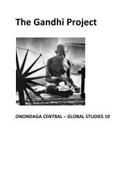 The Gandhi Project - Onondaga Central Schools