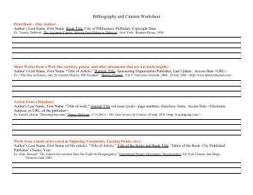 citation examples for the bibliography leslie preddy. Black Bedroom Furniture Sets. Home Design Ideas