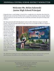 Ms. Helen Sakowski Junior High School Principal - Onondaga ...