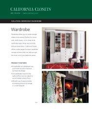 Wardrobe Brochure - California Closets