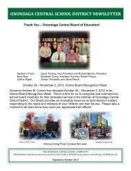 September-October 2012 - Onondaga Central Schools - cnyric