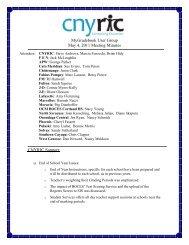 MGB User Group Meeting Minutes 05/04/11 - cnyric
