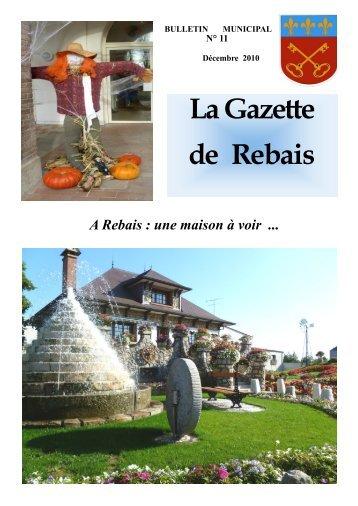 La Gazette de Rebais N°11 Décembre 2010 - Le site officiel de la ...
