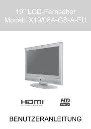 19'' LCD-Fernseher Modell: X19/08A-GS-A-EU - produktinfo.conrad ...