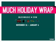 NOVEMBER 26 – JANUARY 6 - Bell Media