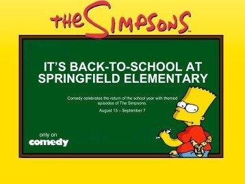 it's back-to-school at springfield elementary - Bell Media