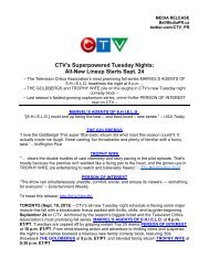 CTV's Superpowered Tuesday Nights - Bell Media