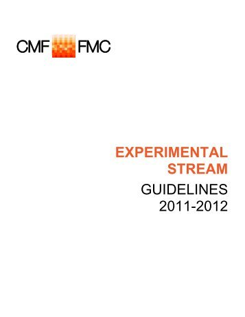 Experimental Stream Guidelines 2011-12 - Canada Media Fund