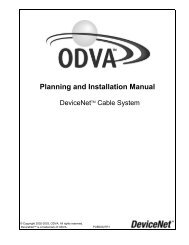 DeviceNet Cable System - ODVA