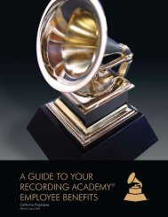 a guide to your recording academy® employee benefits - Grammy