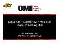 Digital Old + Digital New = Maximum Digital Publishing ROI