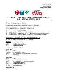 CTV AND CTV TWO 2012/13 NIGHT-BY-NIGHT ... - Bell Media