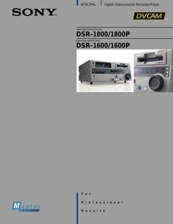 DSR-1800/1800P DSR-1600/1600P - GRS Systems Inc
