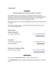 Preferred supplier status awarded on Teachers™ TV ... - Ten Alps