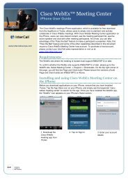 InterCall Unified Meeting User Guide