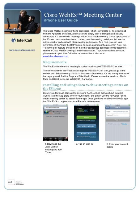 Meeting Center iPhone User Guide - InterCall