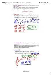 9-7 Algebra 1 - 1.1 2 Number Sequences pd. 2.notebook - Red Clay ...