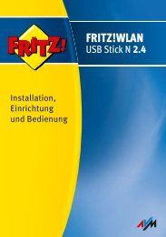Handbuch FRITZ!WLAN USB N 2.4 - produktinfo.conrad.com
