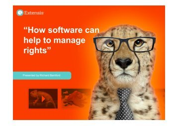 """How software can help to manage rights"""