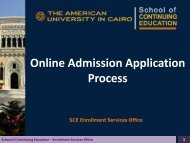 Online Admission Application Process