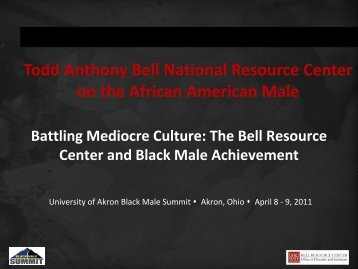 The Bell Resource Center and Black Male Achievement