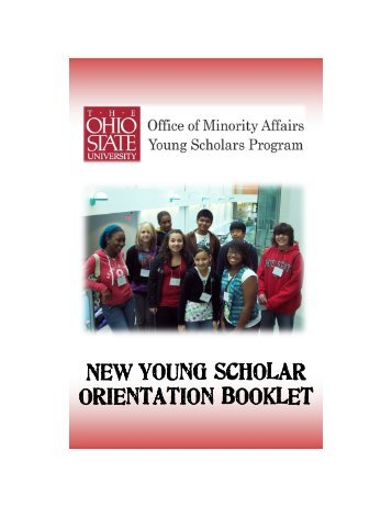 New Young Scholar Orientation Booklet