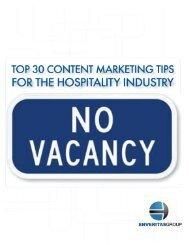 Top 30 Content Marketing Tips for the Hospitality ... - EnVeritas Group