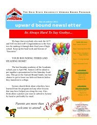 upward bound newsletter