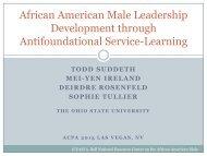 African American Male Leadership Development through ...