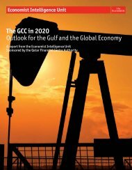 The GCC in 2020 Outlook for the Gulf and the Global Economy