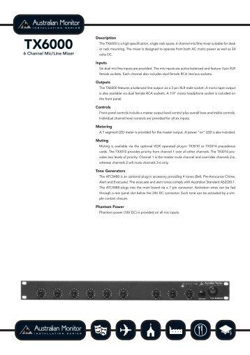 TX6000 - Visono Media AB