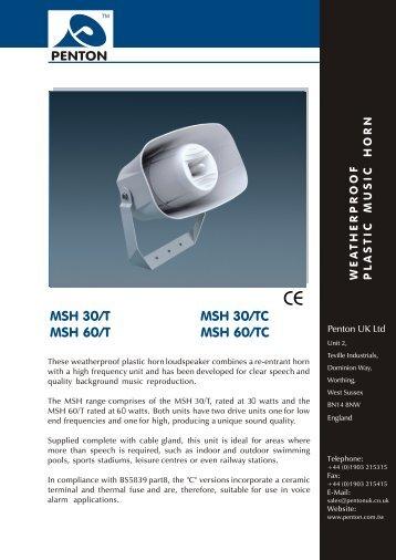 MSH 30/T MSH 30/TC MSH 60/T MSH 60/TC - Visonomedia.com