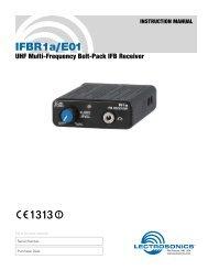 IFBR1a/E01 - Visono Media AB