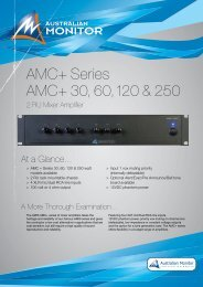 AMC+ Series AMC+ 30, 60, 120 & 250 - Visono Media AB