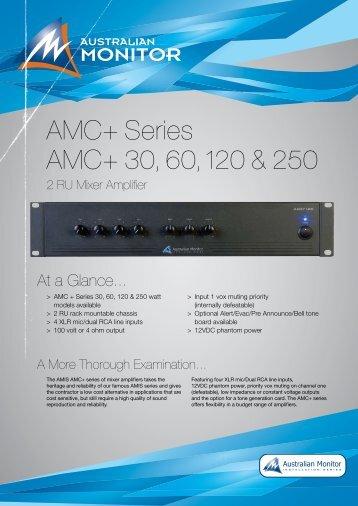 AMC+ Series AMC+ 30, 60, 120 & 250 - Visono Media AB