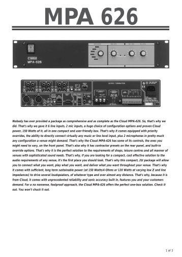 MPA 626 - Visono Media AB