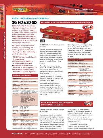 3G, HD & SD-SDI - Visono Media AB