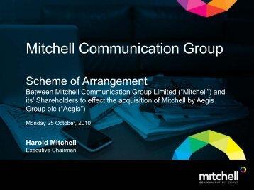 Scheme Meeting Presentation 25.10.10 - Aegis Media