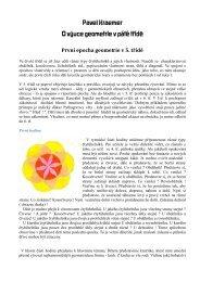 Pavel Kraemer O výuce geometrie v páté třídě