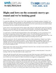 Highs and lows on the economic merry-go- round and ... - Aegis Media
